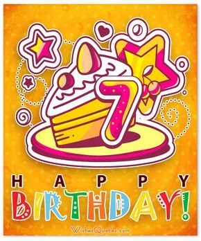 Happy 7th birthday wishes for 7 year old boy or girl birthdays and happy 7th birthday wishes m4hsunfo
