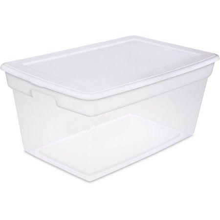 Sterilite 90 Quart Storage Box- White (Available in Case of 4 or Single Unit)