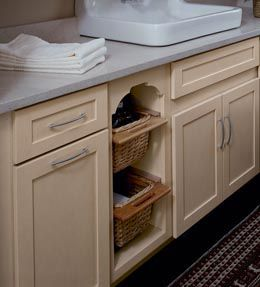 Laundry Room Storage Solutions Details Base Open Basket Cabinet By Kraftmaid Cabinets Available At Just Furniture More