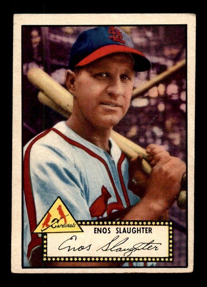 1952 Topps 65 Enos Slaughter Vgex B1046224 Baseball Cards Enos Slaughter Baseball Award