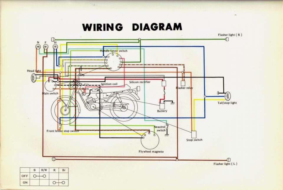 yamaha rs 100 motorcycle wiring diagram and restoration yamaha ls :  rebuilding yamaha chassis | motorcycle wiring, diagram, electrical wiring  diagram  pinterest