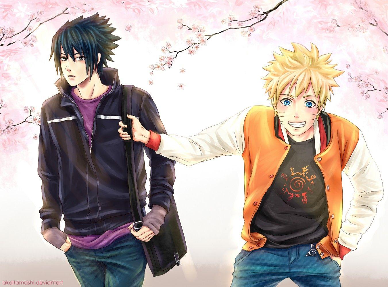 Back To SchoolNaruto And Sasuke Friends Forever
