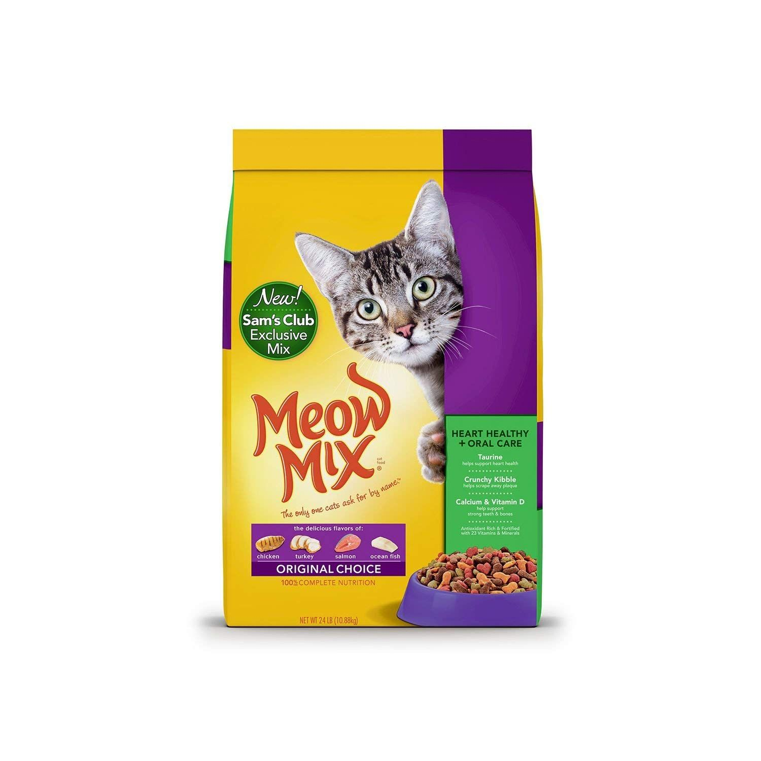 Meow Mix Original Choice Dry Cat Food Heart Health And Oral Care Formula 24 Lbs Pack Of 6 We Appreciate You For Dry Cat Food Cat Pet Supplies Cat Food