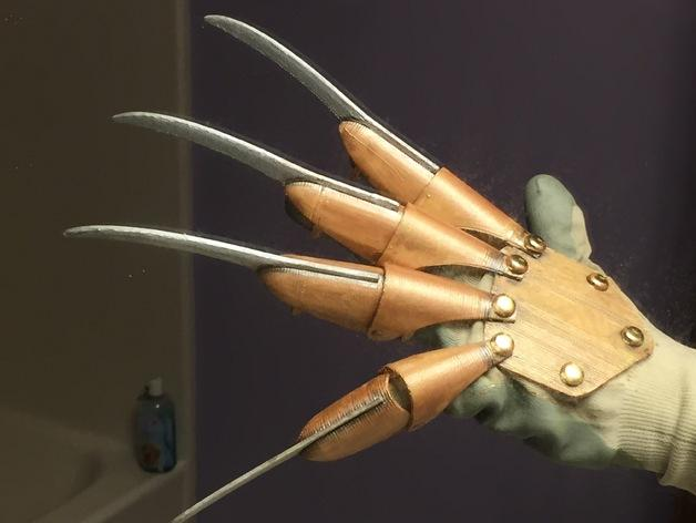 Take A Trip Down Elm Street For Halloween 3d Print This Freddy Krueger Glove 3dprint Com The Voice Of 3d Printing Additive Manufacturing Freddy Krueger Hand Prints Freddy Krueger