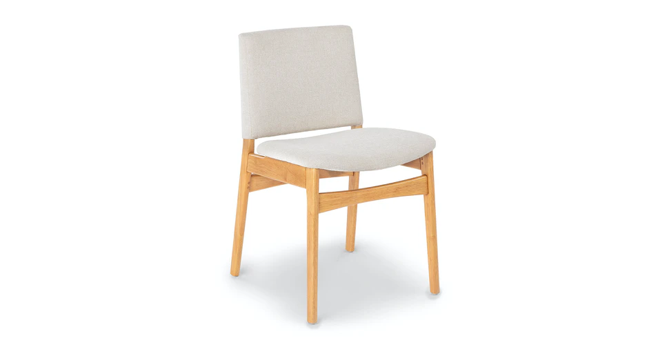 Nosh Chalk Gray Oak Dining Chair in 2020 | Dining chairs ...