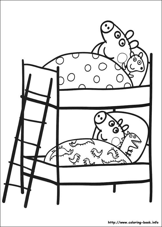 Free Peppa Pig Coloring Pages Dibujos Colorear Pinterest