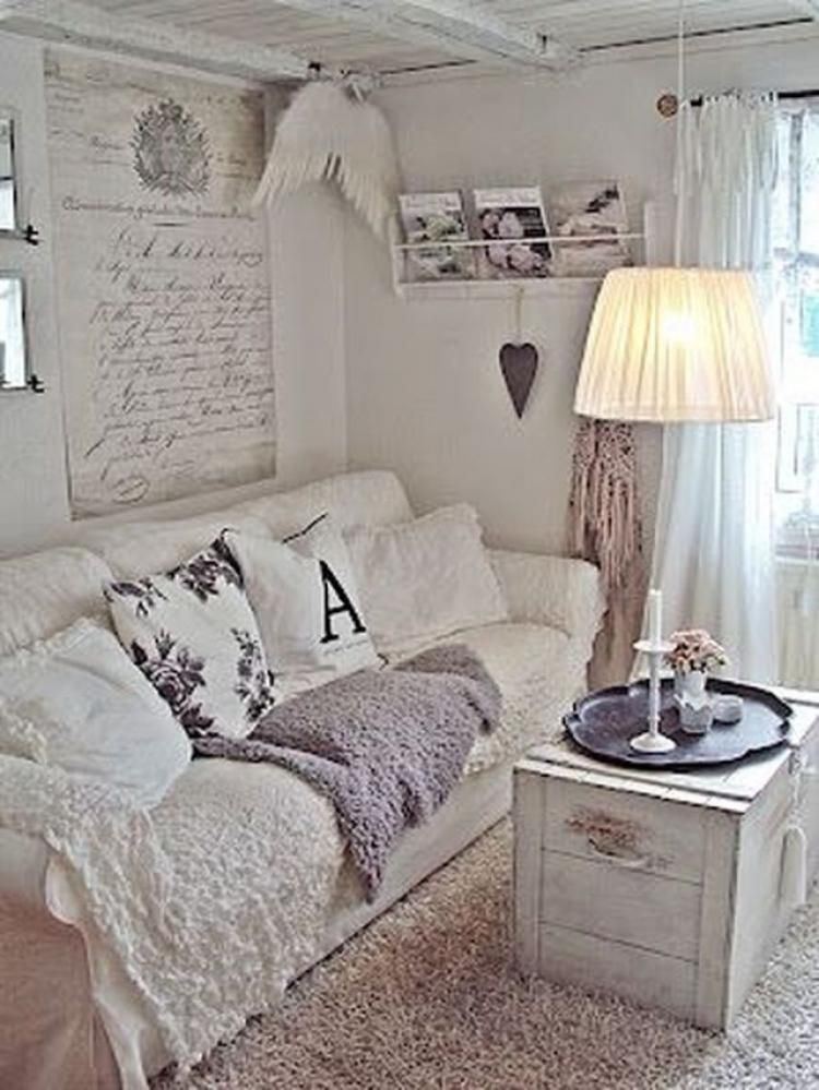 The decorating experts at hgtv.com share tips on designing and decorating a living room on a small budget. 70 Antique Shabby Chic Living Room Decorations Ideas Shabby Chic Living Room Chic Home Decor Shabby Chic Living