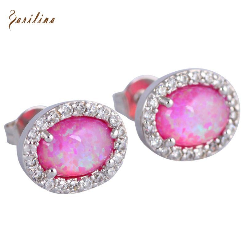 Fashion 2017 New 925 Sterling Silver Blue Fire Opal earrings Cute jewelry E221 qEyBzO2