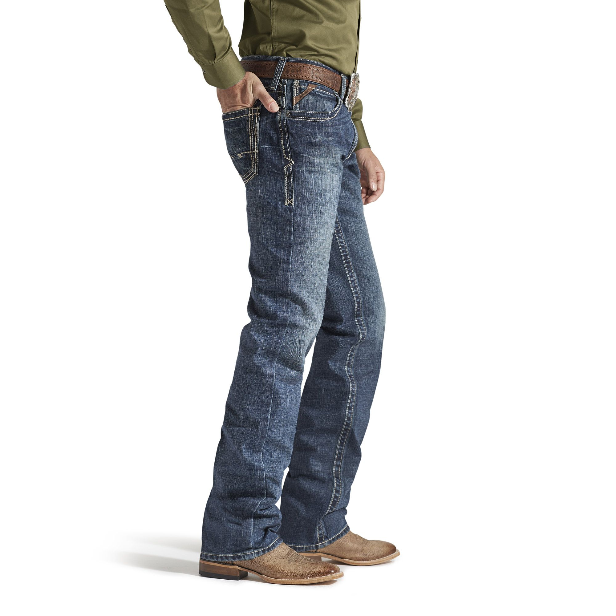 Homme Ariat Boundary M4 boot cut jean
