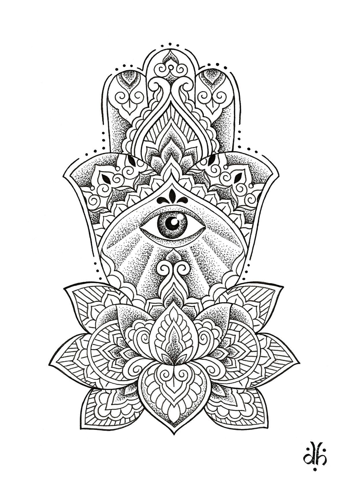 Tatuagem/tattoo. Hamsá. Dominique Holmes. Tatuagens mão