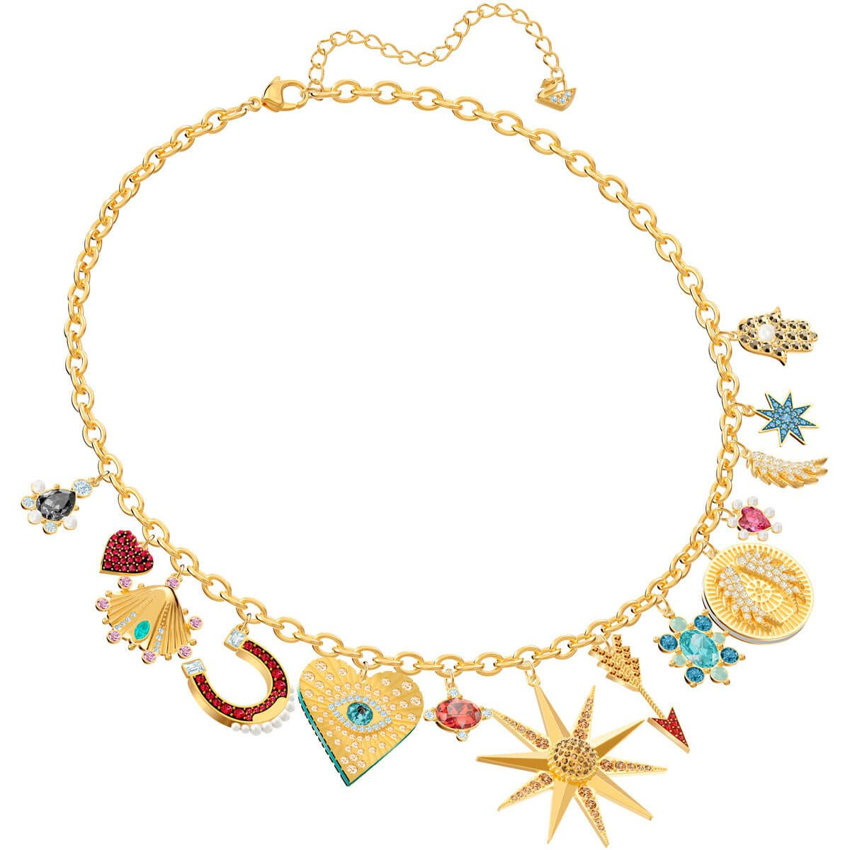 12d05f65de5a0d Lucky Goddess Charms Necklace, Multi-colored, Gold plating exclusively on  Swarovski.com