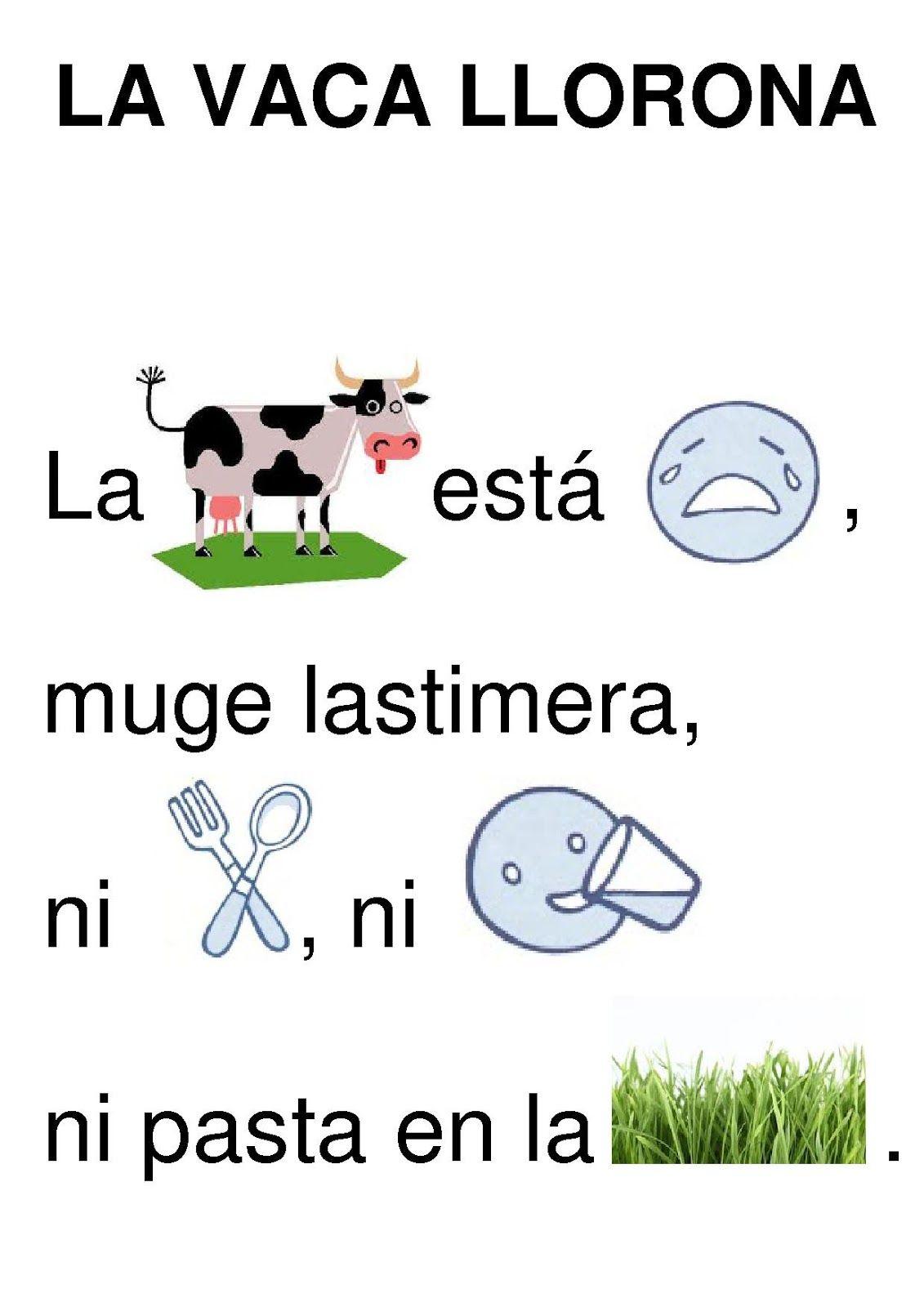 Resultado de imagen de actividades infantiles sobre la vaca