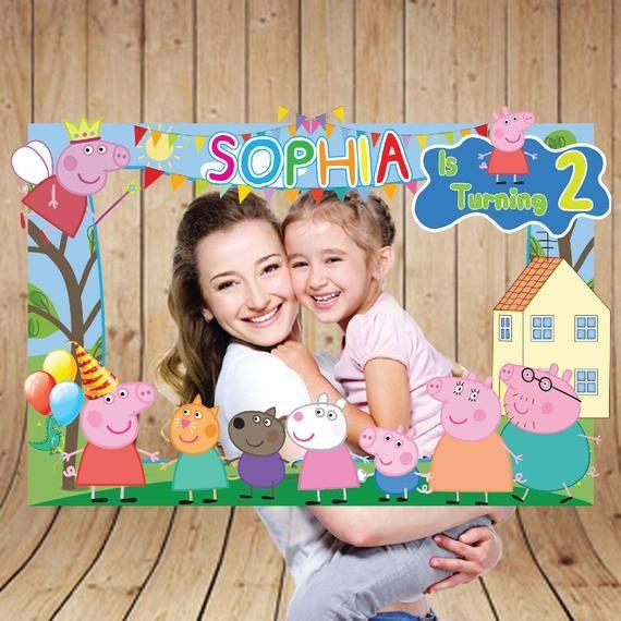 Peppa Pig Photo Booth Frame Peppa Pig Photo Booth Frame | Etsy #peppapig