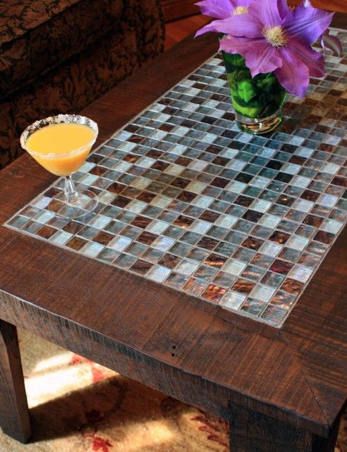 Outdoor Coffee Table With Mosaic From Tile Originality