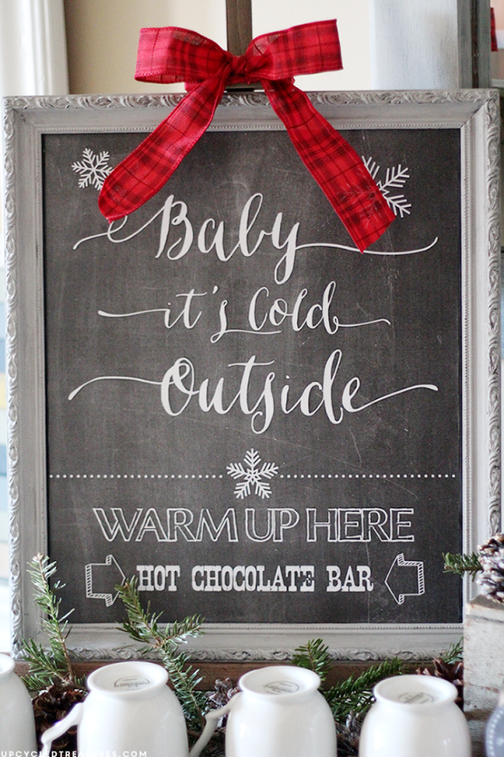FREE Hot Chocolate Bar Printable #hotchocolatebar