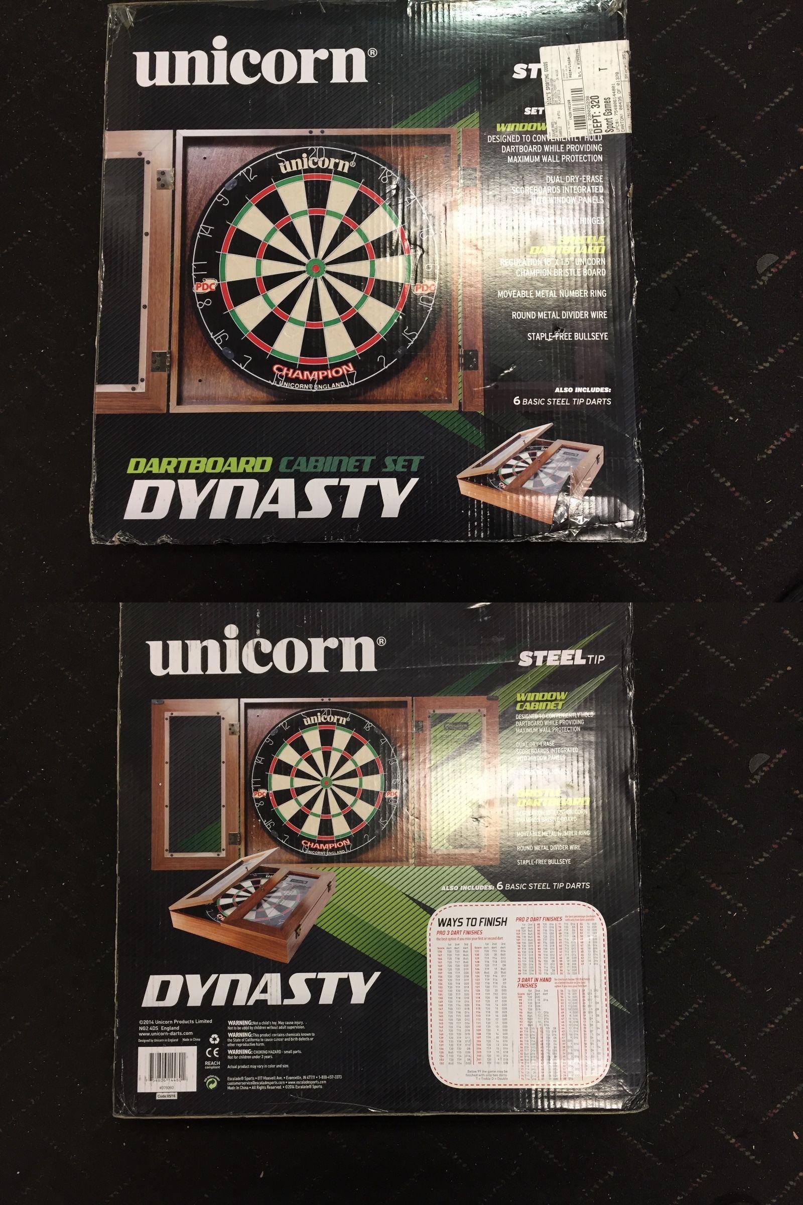 Dart Boards 72576: Brand New, Unicorn Dynasty Bristle Dartboard Cabinet Set  D76060  U003e