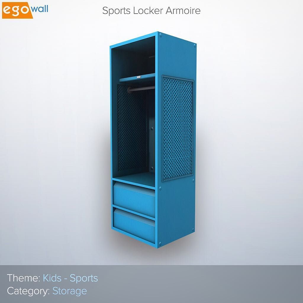 Closets Are Not Cool. But This #Sports Locker Armoire Sure Is. Itu0027s One Of  Many High Quality #kids #furniture Assets Youu0027ll Find In Egowall.