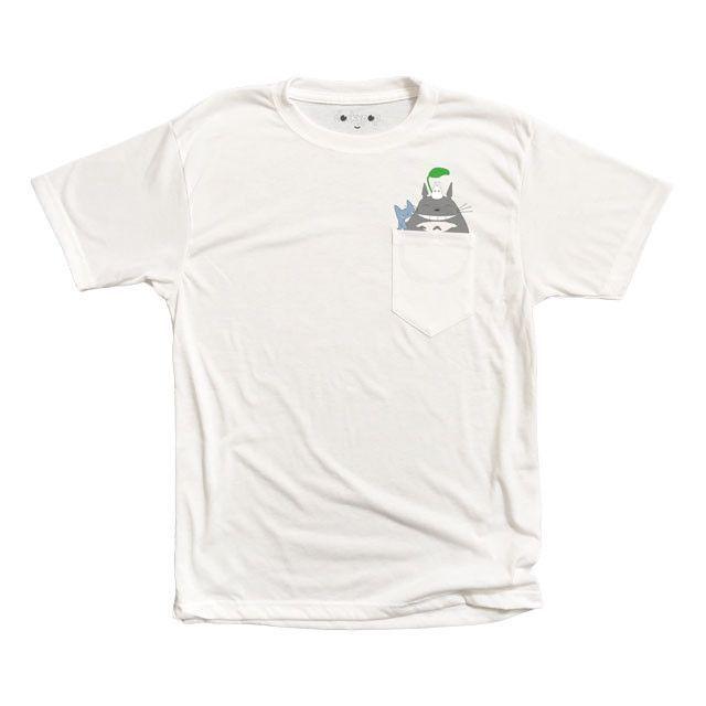 Totoro Squad Pocket Tee - http://www.dorkypop.com/products/totoro-squad-pocket-tee #kawaii #cute #shopdorkypop #dorkypop