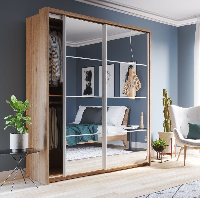 Cheap Bedroom Design Ideas Sliding Door Wardrobes: Barse Mirror 2 Door Sliding Wardrobe In 2020