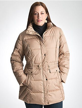 e50368e7e27 Keep out the chill with our cozy puffer coat. Cinched with a drawstring  waist to keep the silhouette sleek