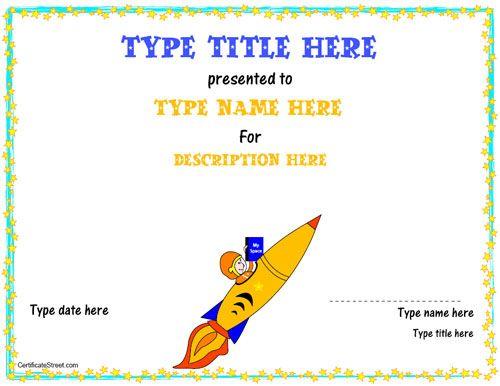 Blank Certificate Rocket Certificate Certificatestreet