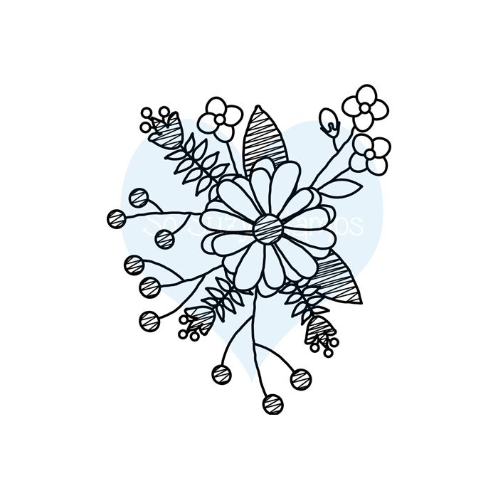 Flower Doodle Single Flower Doodles Flower Drawing Pencil Drawings Of Flowers