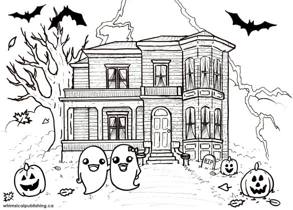 fun free printable colouring page for halloween check it out