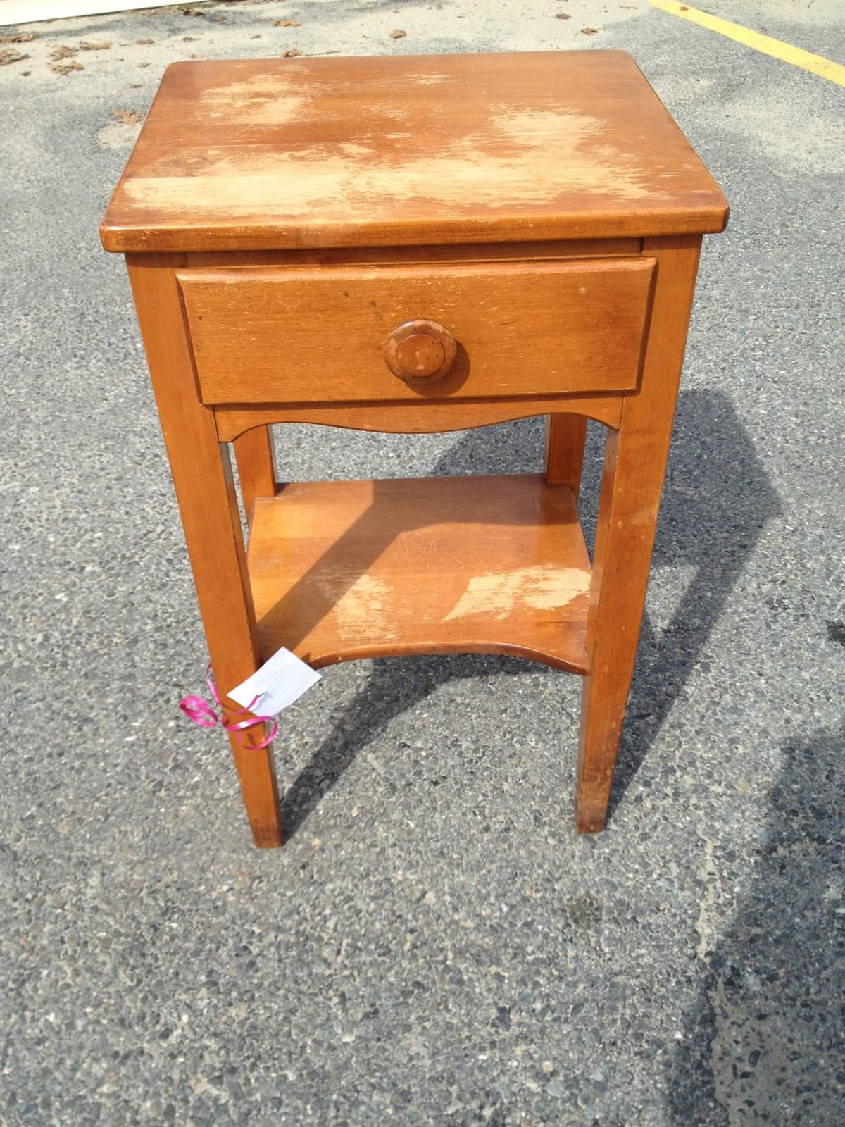 Needs a little TLC but new nightstand! Maybe some high gloss white paint.