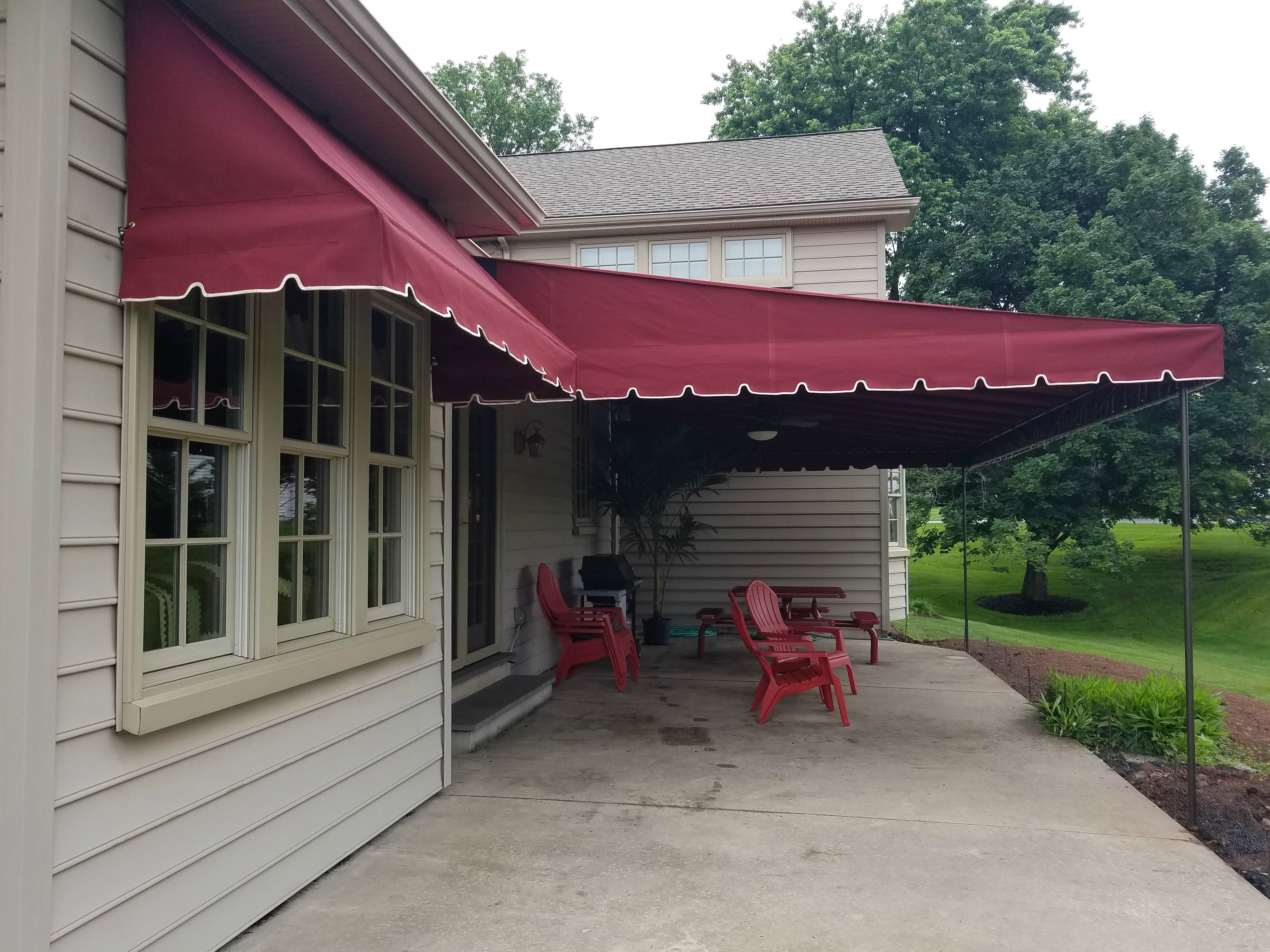 Stay Cool And Dry With A Stationary Canopy Covering Your Patio Area. Add  Matching Window