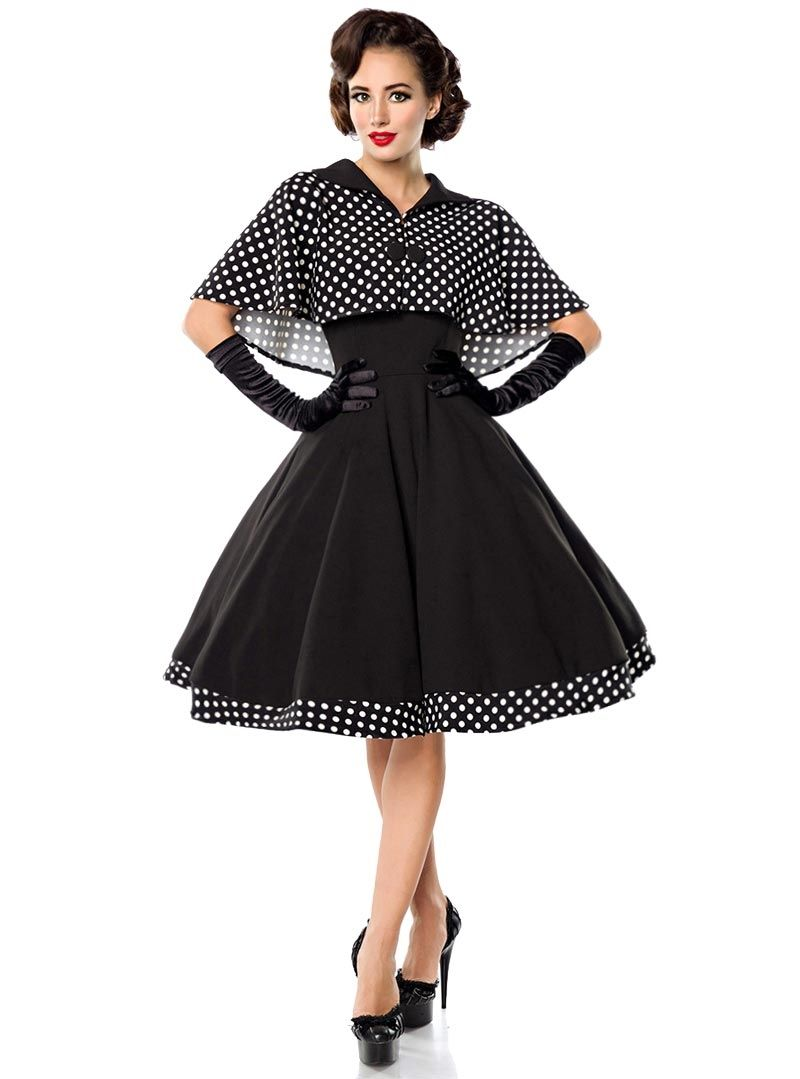 d41b473c6d9ea Robe + Cape Retro Rockabilly Pin-Up Années 50 Belsira