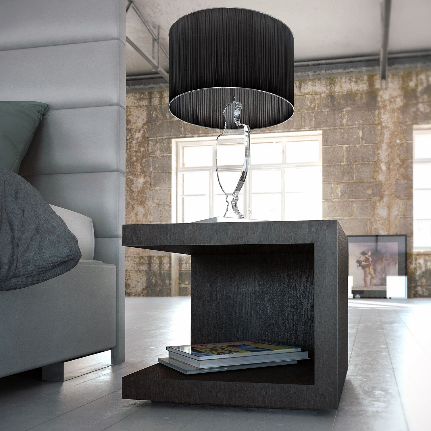 Simple modern master bedroom ideas  SURPRISING BLACK NIGHTSTANDS  This statement piece is simple yet