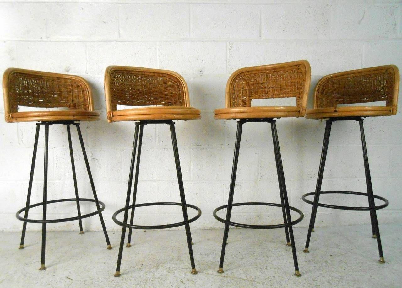 Set Of Mid Century Modern Danny Ho Fong Tropi Cal Style