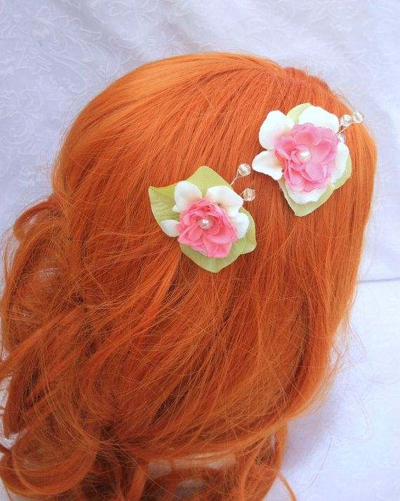 Garden Fairy Flower Pins in Pink White and Pale by RuthNoreDesigns, $15.00