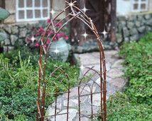Fairy garden, miniature garden, fairy garden arbor, miniature arbor, fairy gate, miniature gate, fairy trellis, trellis