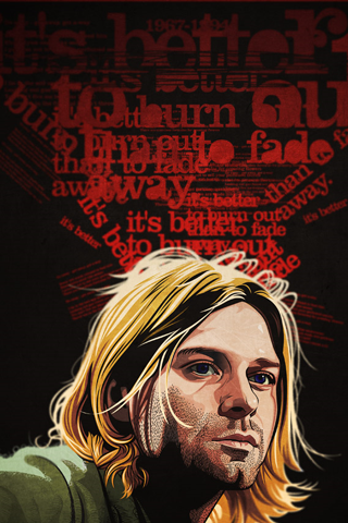 Kurt Cobain Gambar Kertas Dinding Gambar Karakter
