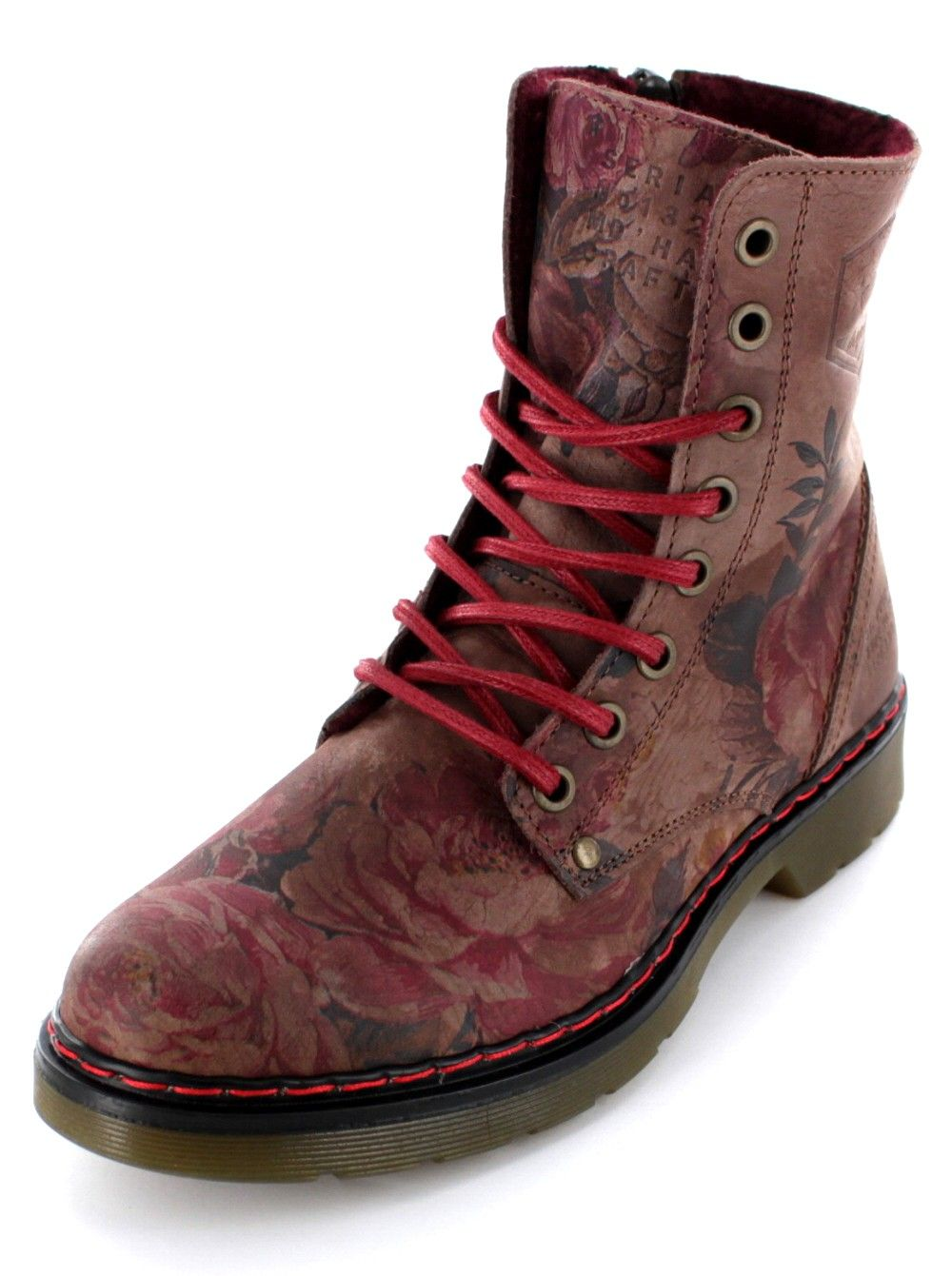 Bullboxer Boot Bullboxer Blumenmuster Boot Mit Damen Damen Mit 8PwXn0kO