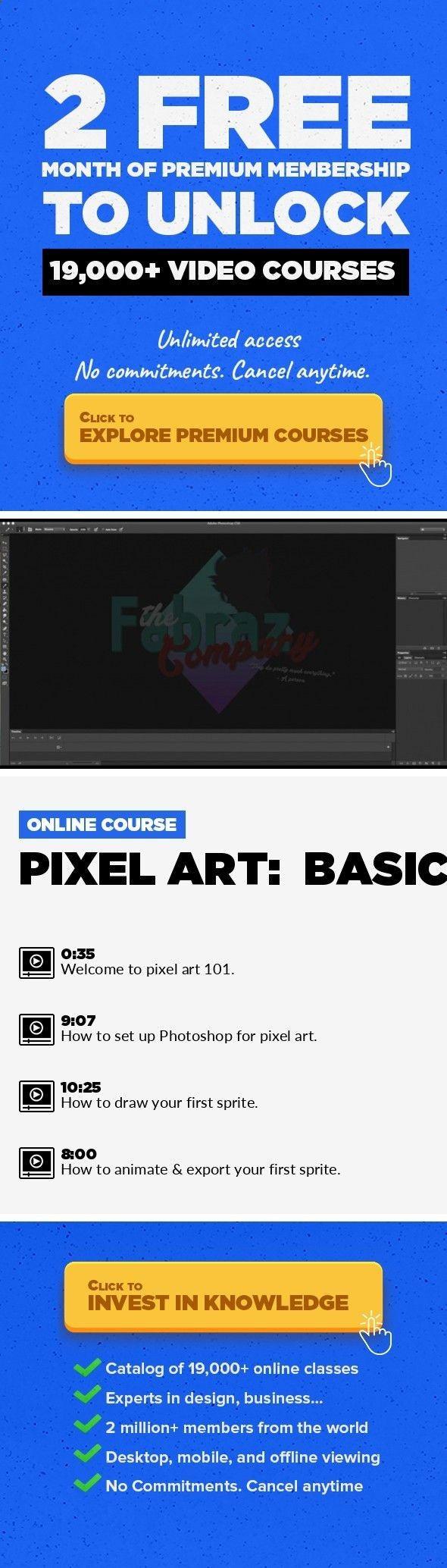 Pixel Art Basics Design, Art, Illustration, Animation