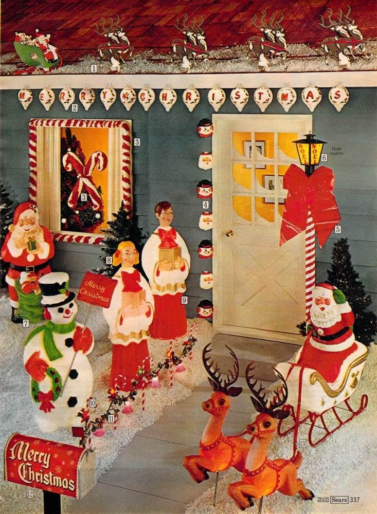 70s christmas decorations looks like a jolly house