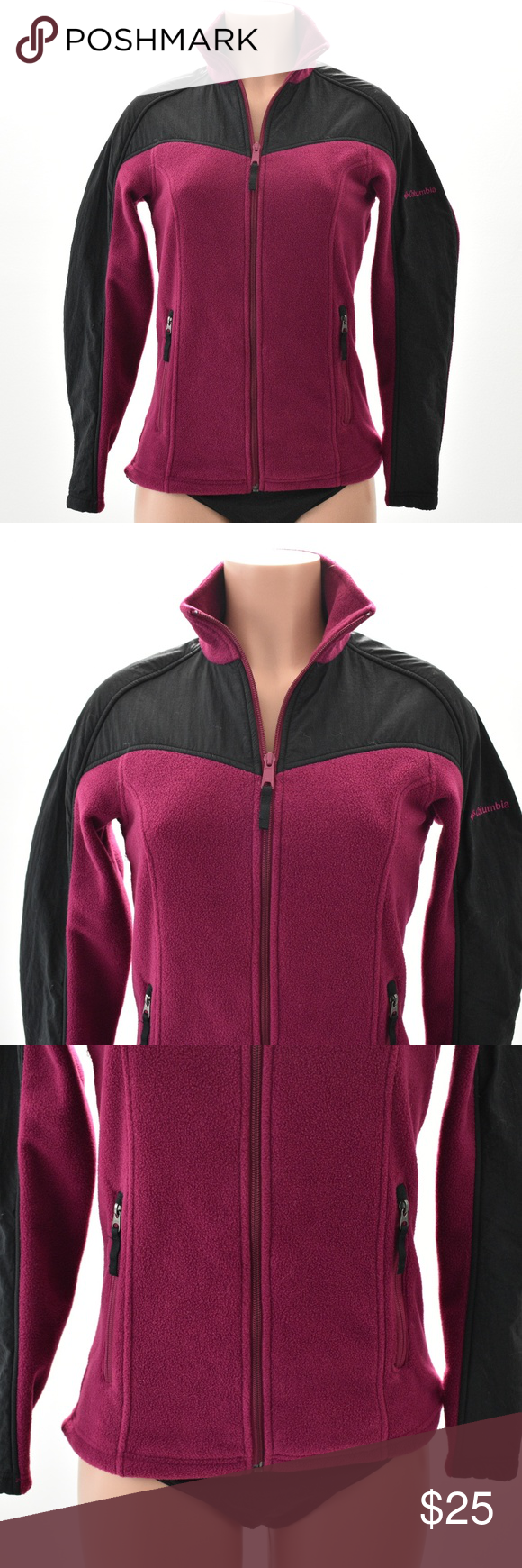 Womans columbia zip up fleece jacket small my posh picks