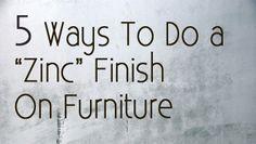 DIY Antique Zinc Finish Tutorial | Chalk Paint, Furniture Restoration And  Annie Sloan
