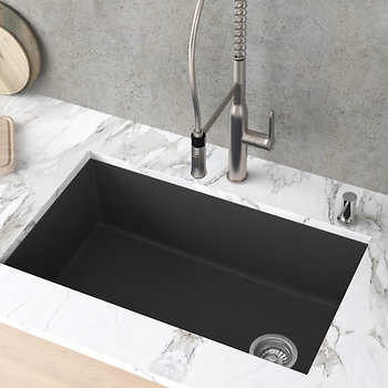 Kraus 31 Kitchen Sink Single Bowl In 2020 Granite Kitchen Sinks Undermount Kitchen Sinks Replacing Kitchen Countertops