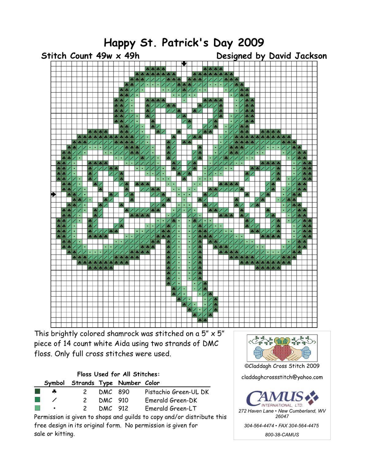 Celtic knotwork shamrock | St. Patrick\'s Day | Pinterest | Cross ...