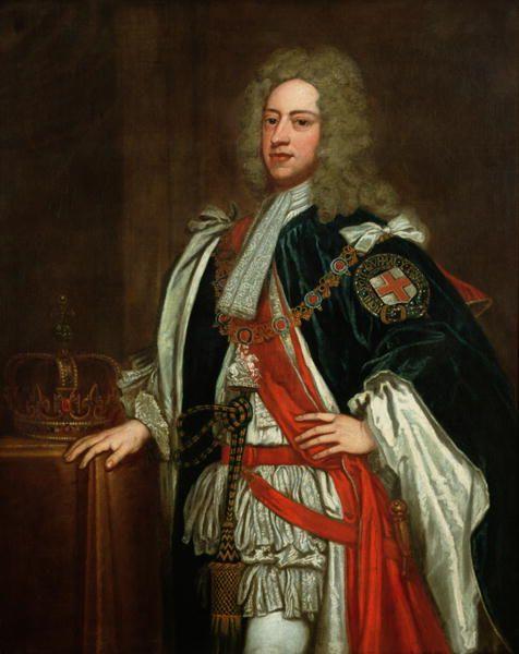 George Knapton King George Ii 18th Century Oil On Canvase