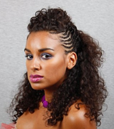 hairstyles for african american natural hair | African American women long curly braided nautral hairstyle picture ...