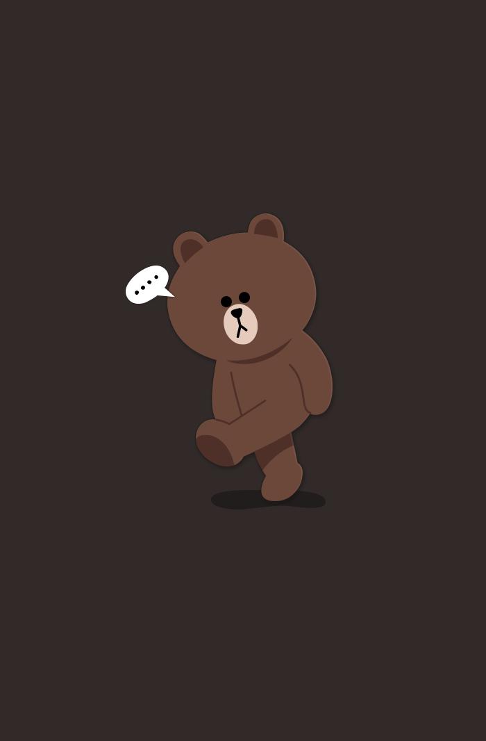 Line Bear Bear Wallpaper Cute Cartoon Wallpapers Teddy Bear Wallpaper