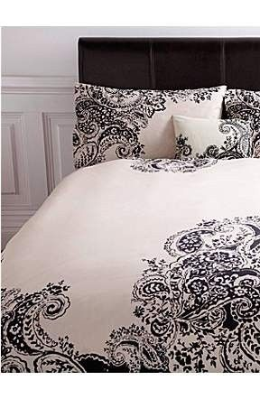 black and white paisley bedding | Paisley bedding, Home, Home bedroom