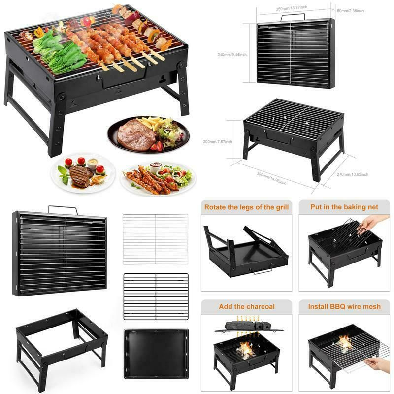 WOSTOO Barbecue Charbon de Bois, Portable BBQ Grill Barbecue
