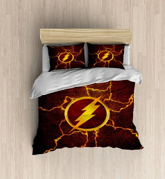 superhero bedding set red lightning bedroom decor superhero party