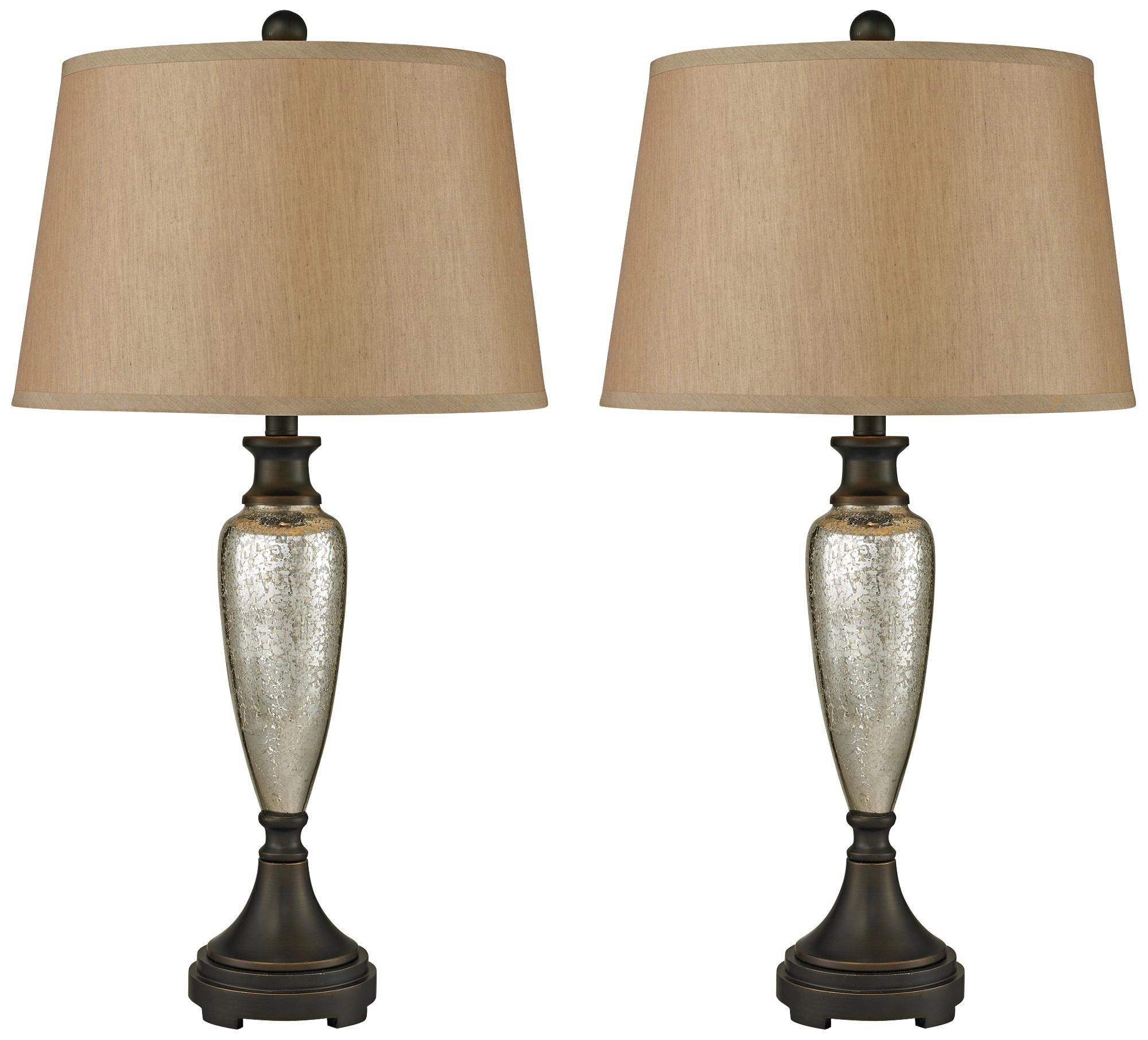 Dimond Caledon Antique Mercury Glass Table Lamp Set Of 2