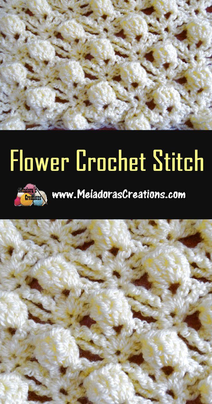 Flower Crochet Stitch Pattern & Tutorial | PUNTOS para tejer ...